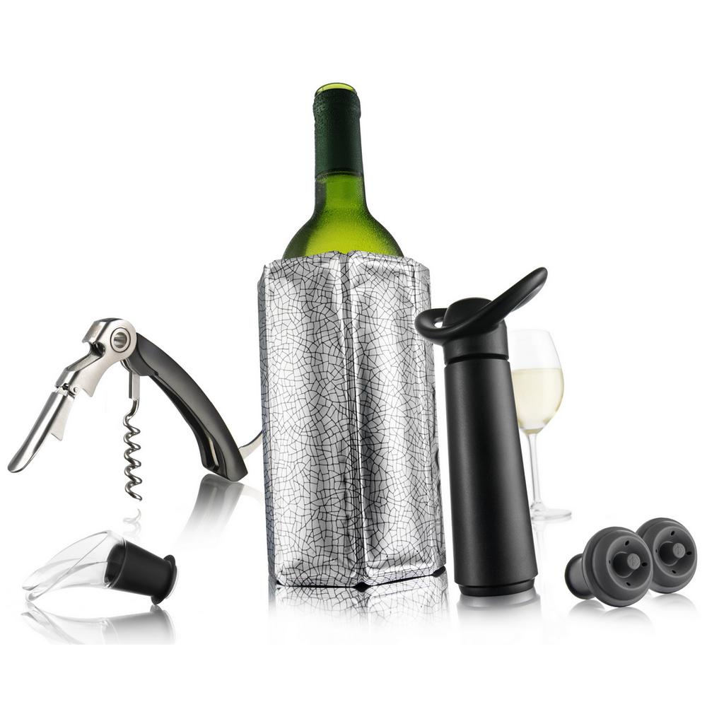 Vacu Vin 6 piece stopper for wine, Grey