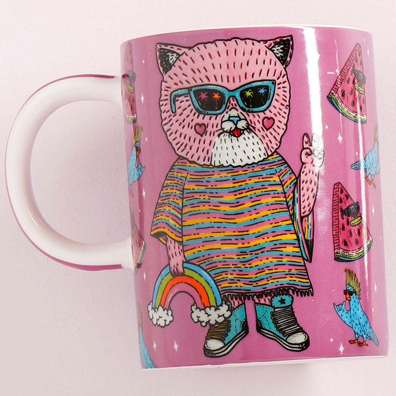Maxwell Williams Mulga The Artist Cat Mug 450ml Living Giving